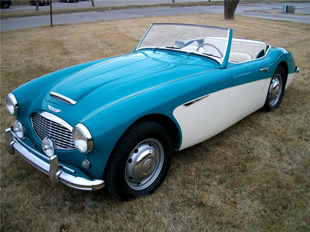 1958 AUSTIN-HEALEY 100-6 BN4 CONVERTIBLE - Side Profile - 101614