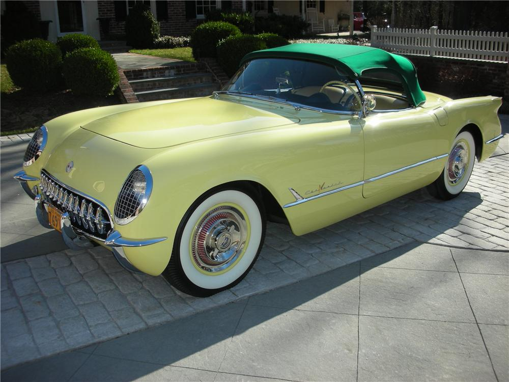 1955 CHEVROLET CORVETTE CONVERTIBLE - Front 3/4 - 101619