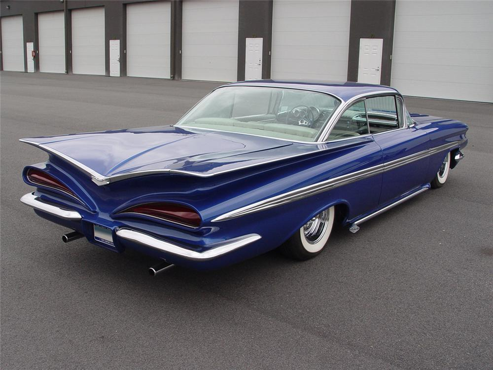 1959 CHEVROLET IMPALA CUSTOM 2 DOOR COUPE - Rear 3/4 - 101623