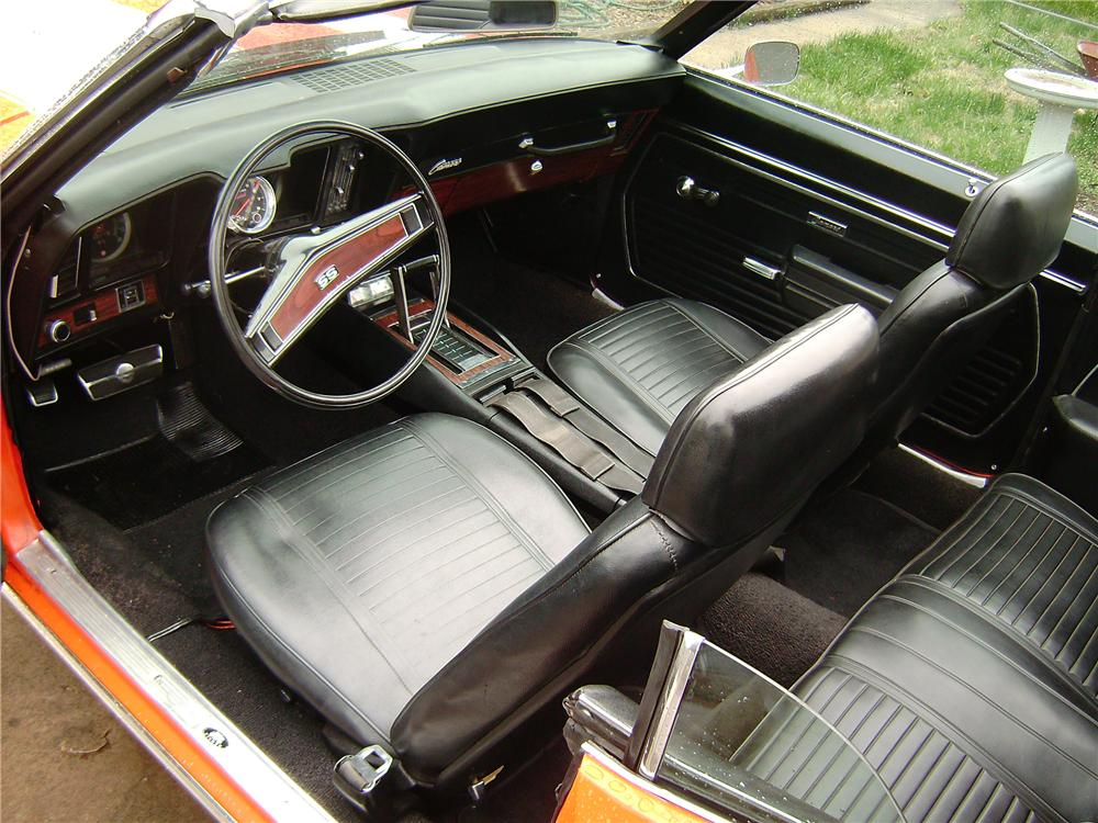 1969 CHEVROLET CAMARO RS/SS CUSTOM CONVERTIBLE - Interior - 101653