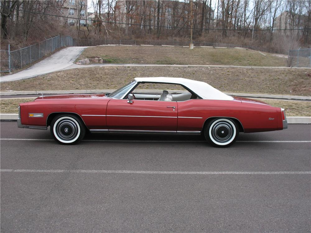1976 CADILLAC ELDORADO CONVERTIBLE - Side Profile - 101668