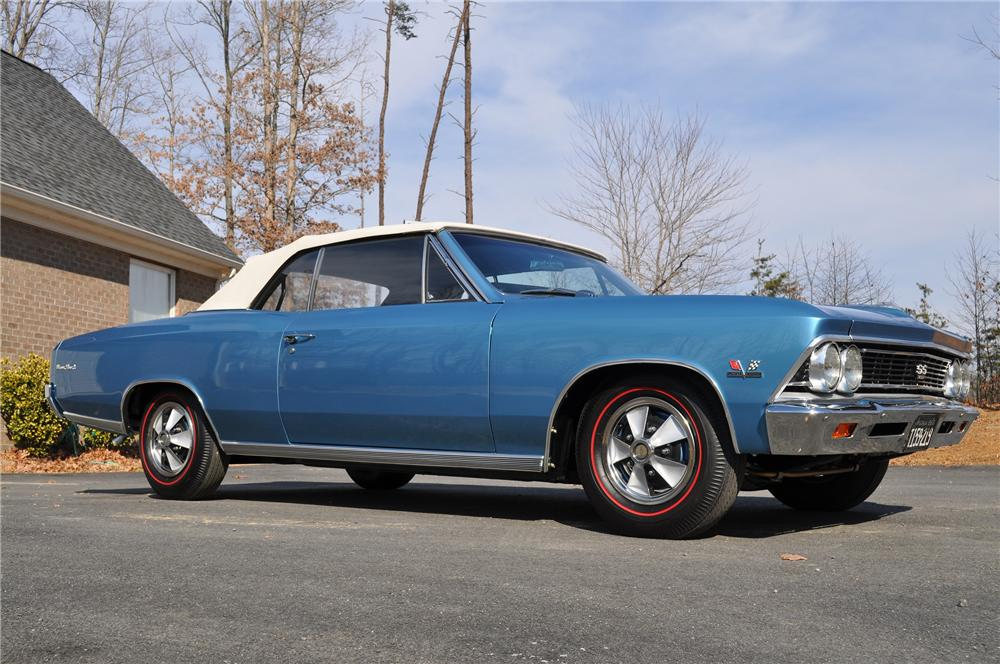 1966 CHEVROLET CHEVELLE SS 396 CONVERTIBLE - Front 3/4 - 101670