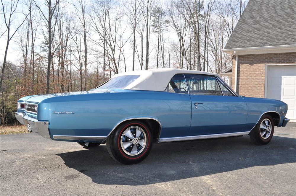 1966 CHEVROLET CHEVELLE SS 396 CONVERTIBLE - Side Profile - 101670