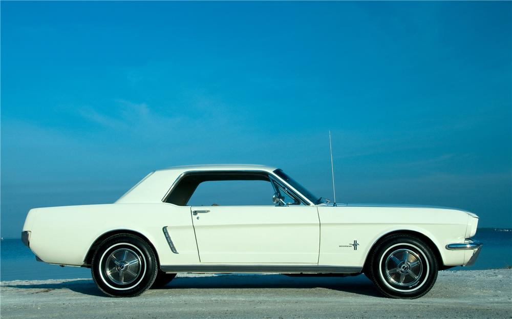 1965 FORD MUSTANG 2 DOOR COUPE - Side Profile - 101680