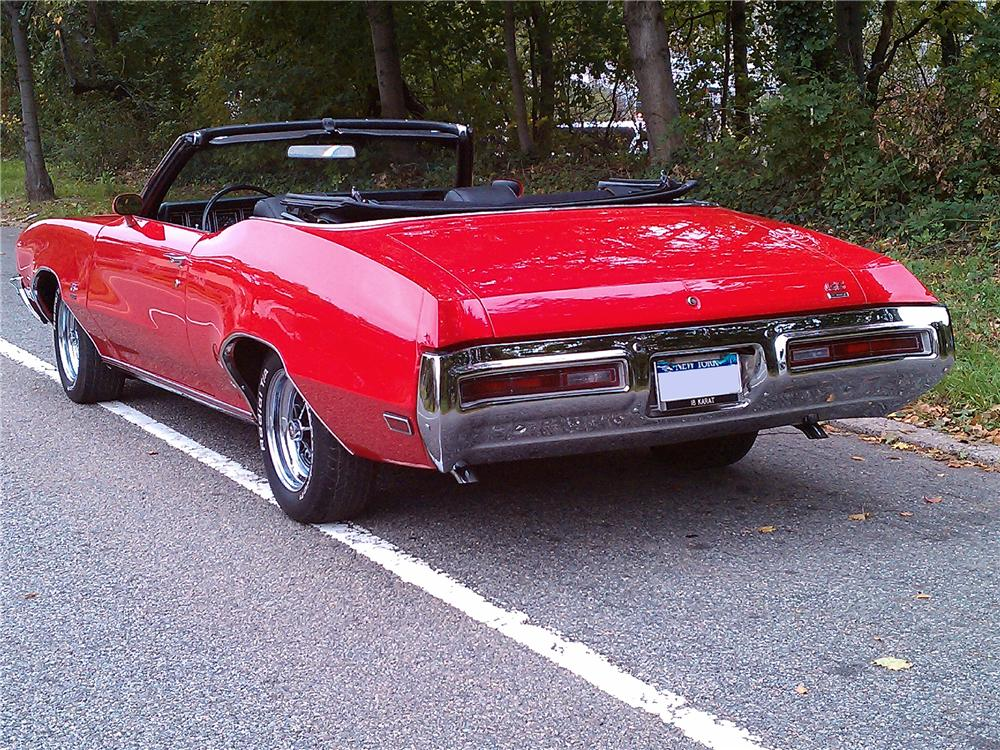 1971 BUICK GS CONVERTIBLE - Rear 3/4 - 101699