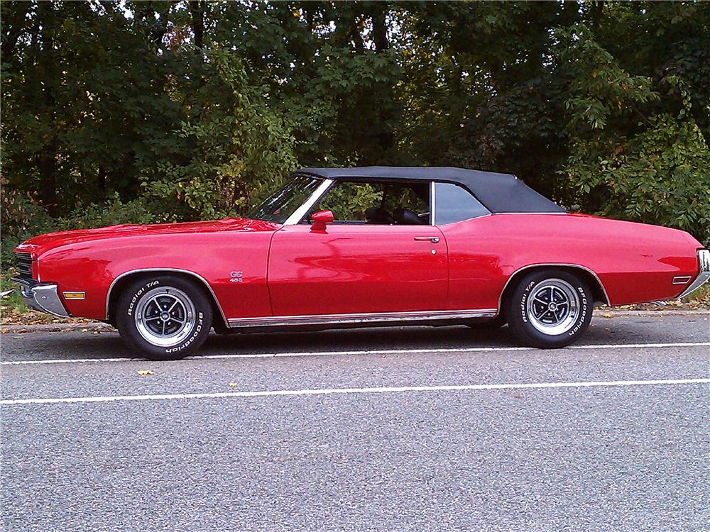 1971 BUICK GS CONVERTIBLE - Side Profile - 101699