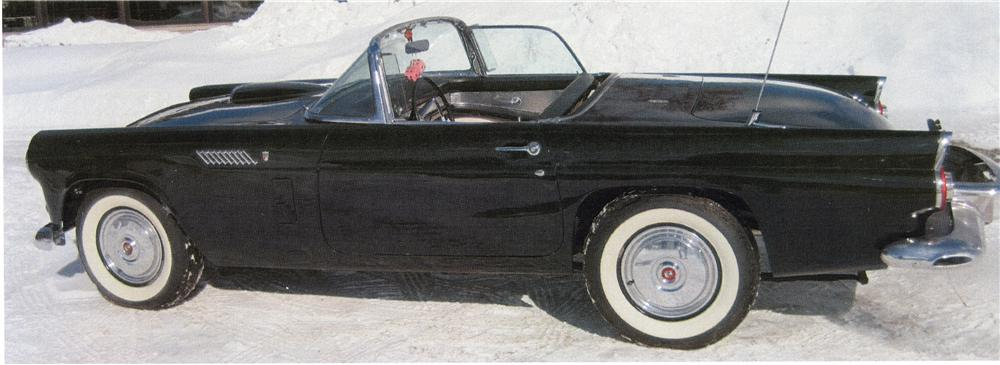 1956 FORD THUNDERBIRD CONVERTIBLE - Side Profile - 101760