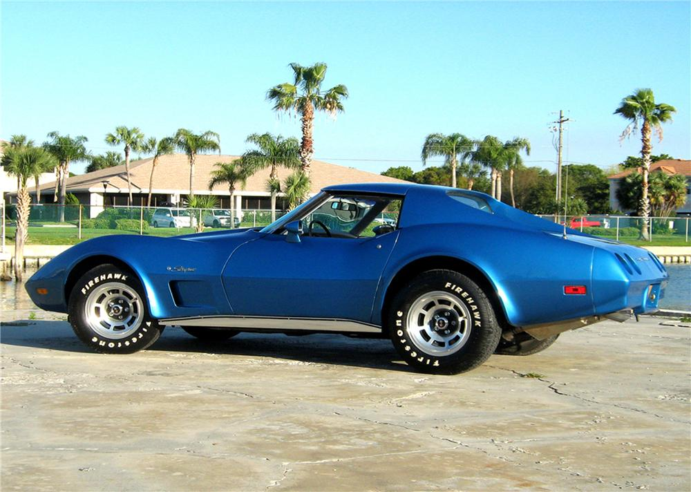 1974 CHEVROLET CORVETTE 2 DOOR COUPE - Side Profile - 101770