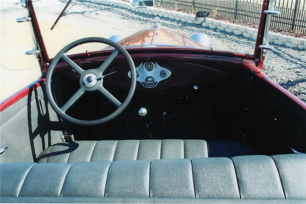 1930 FORD MODEL A 2 DOOR ROADSTER - Interior - 101773