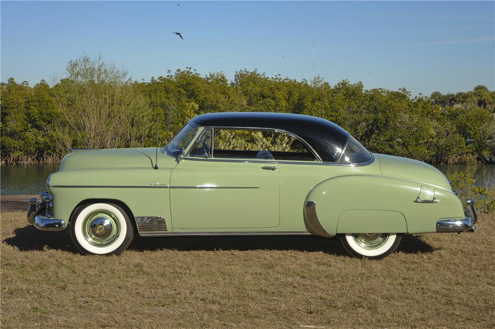 1950 CHEVROLET BEL AIR 2 DOOR HARDTOP - Side Profile - 101776