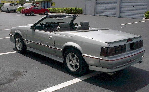 1987 FORD MUSTANG CONVERTIBLE - Rear 3/4 - 101787