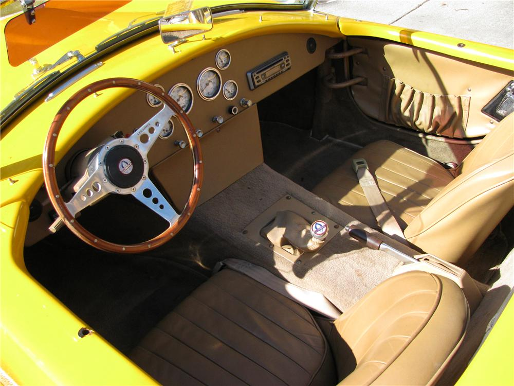 1967 SHELBY COBRA RE-CREATION CONVERTIBLE - Interior - 101793