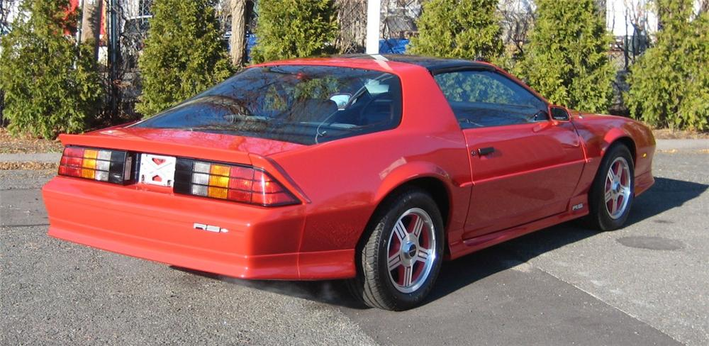 1991 CHEVROLET CAMARO 2 DOOR COUPE - Rear 3/4 - 101958
