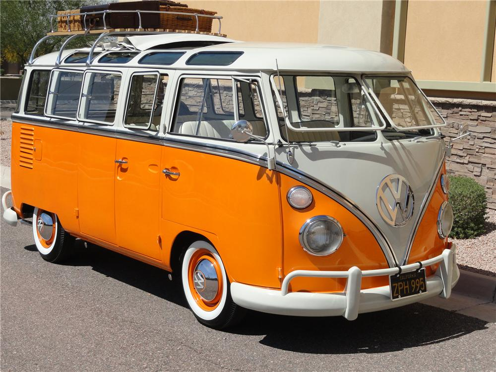 1962 VOLKSWAGEN 23 WINDOW CUSTOM SAMBA BUS - Front 3/4 - 101959