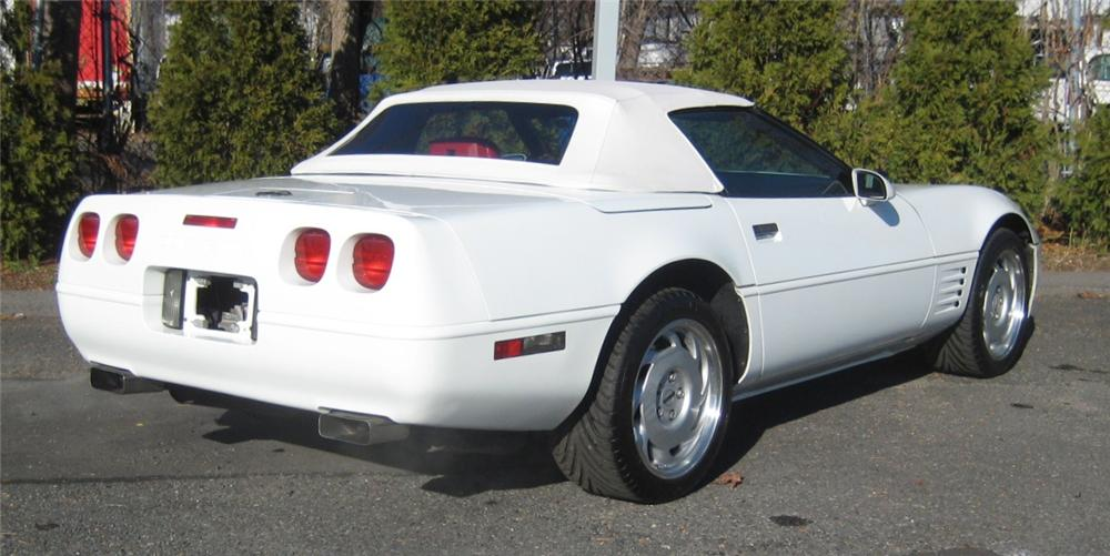 1991 CHEVROLET CORVETTE CONVERTIBLE - Rear 3/4 - 101961