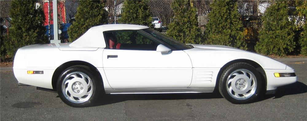 1991 CHEVROLET CORVETTE CONVERTIBLE - Side Profile - 101961