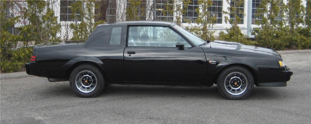 1987 BUICK REGAL GRAND NATIONAL 2 DOOR COUPE - Side Profile - 101962