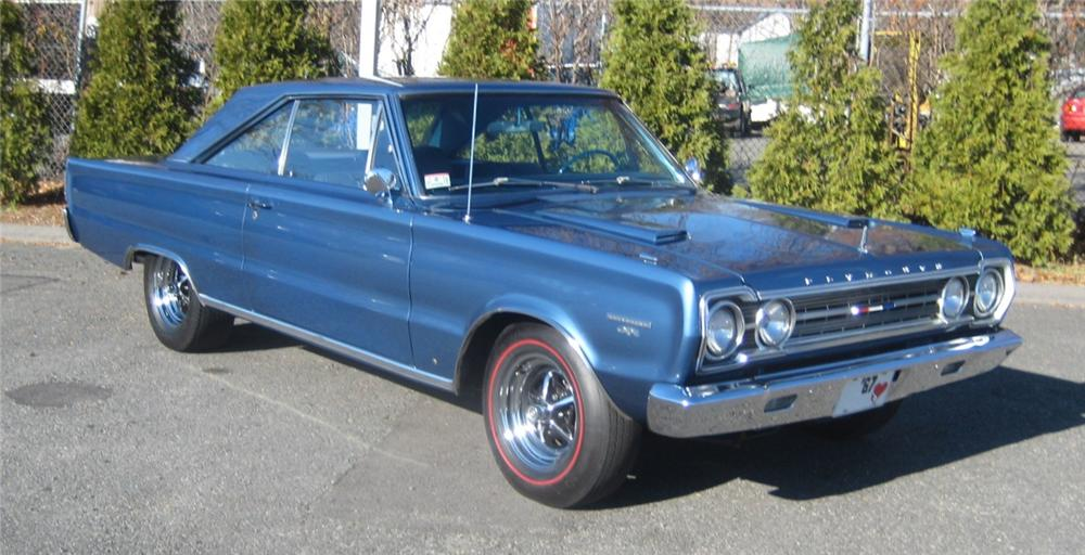 1967 PLYMOUTH GTX 2 DOOR COUPE - Front 3/4 - 101964