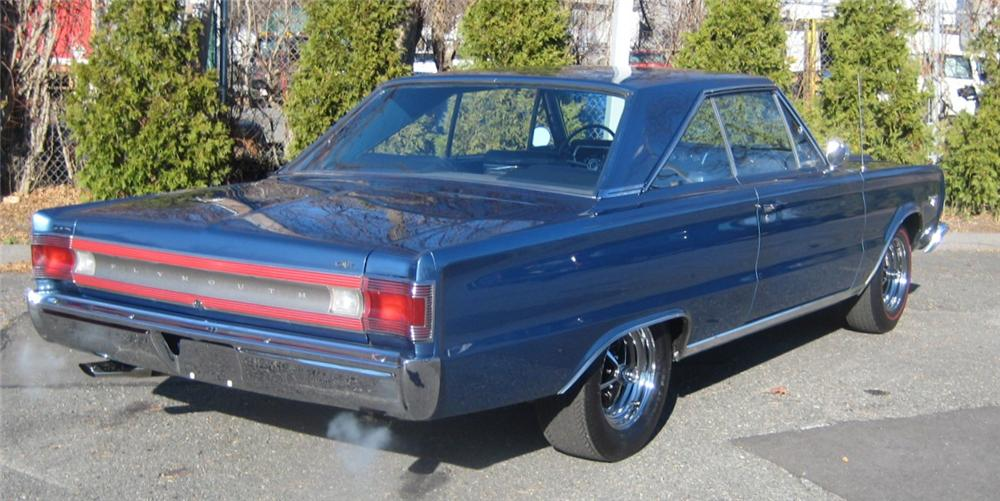 1967 PLYMOUTH GTX 2 DOOR COUPE - Rear 3/4 - 101964