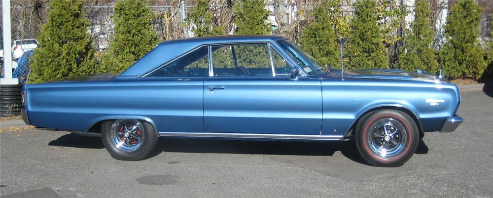 1967 PLYMOUTH GTX 2 DOOR COUPE - Side Profile - 101964