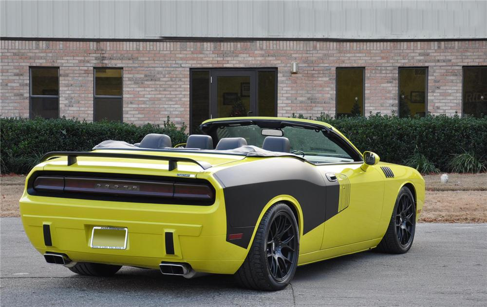2009 DODGE CHALLENGER CUSTOM CONVERTIBLE - Rear 3/4 - 101972
