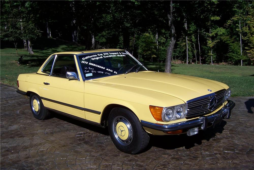 1973 MERCEDES-BENZ 450SL ROADSTER - Front 3/4 - 101981