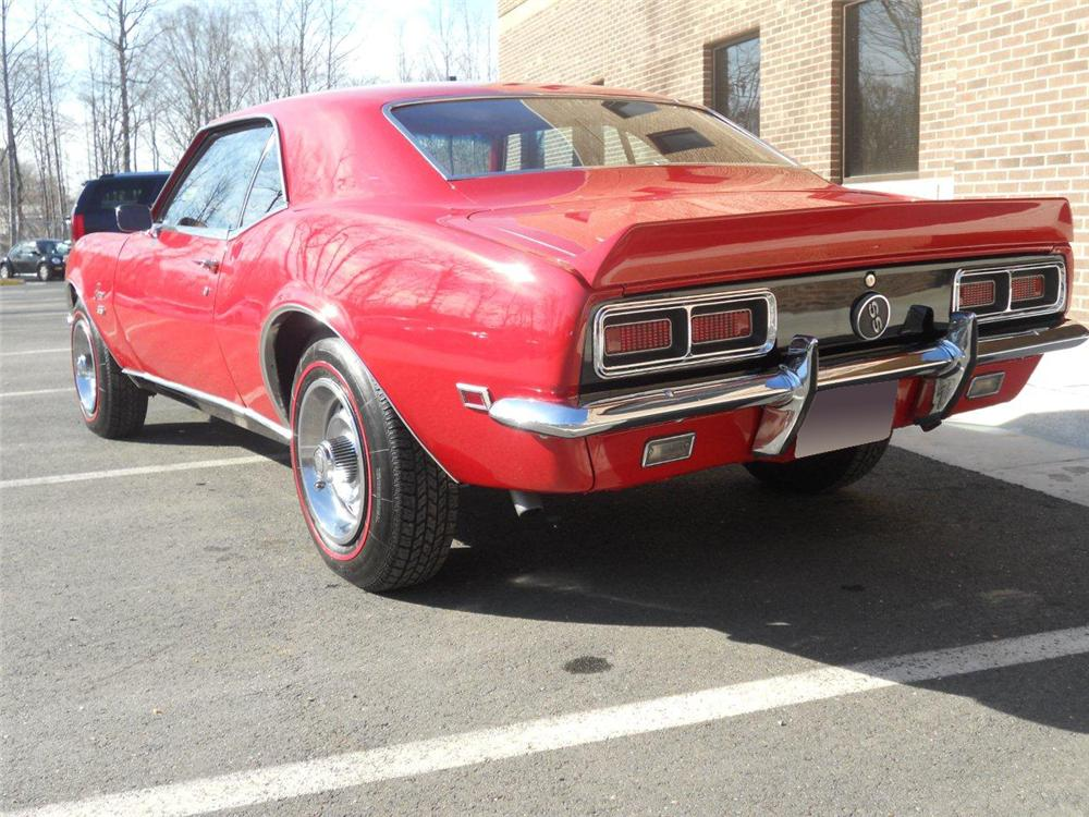 1968 CHEVROLET CAMARO RS/SS COUPE - Rear 3/4 - 101992