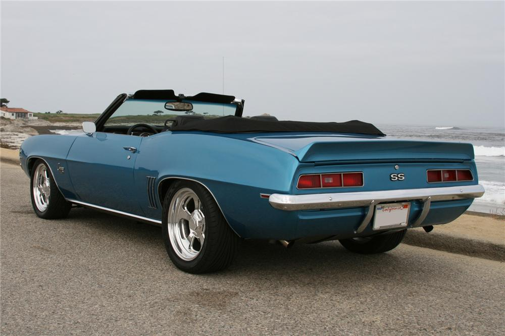 1969 CHEVROLET CAMARO CUSTOM CONVERTIBLE - Rear 3/4 - 102037