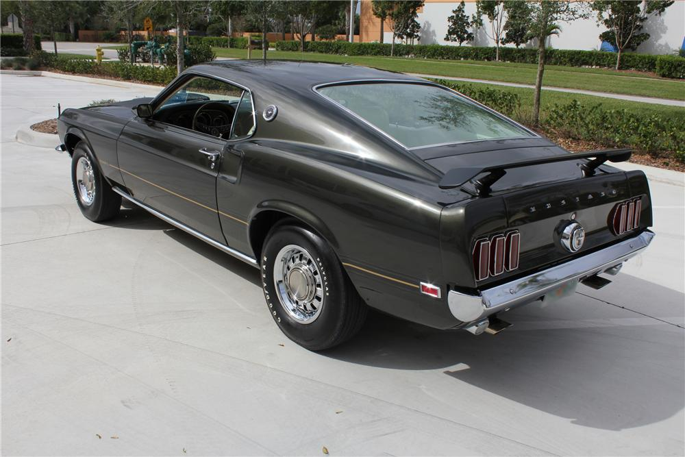 1969 FORD MUSTANG MACH 1 FASTBACK - Rear 3/4 - 102059