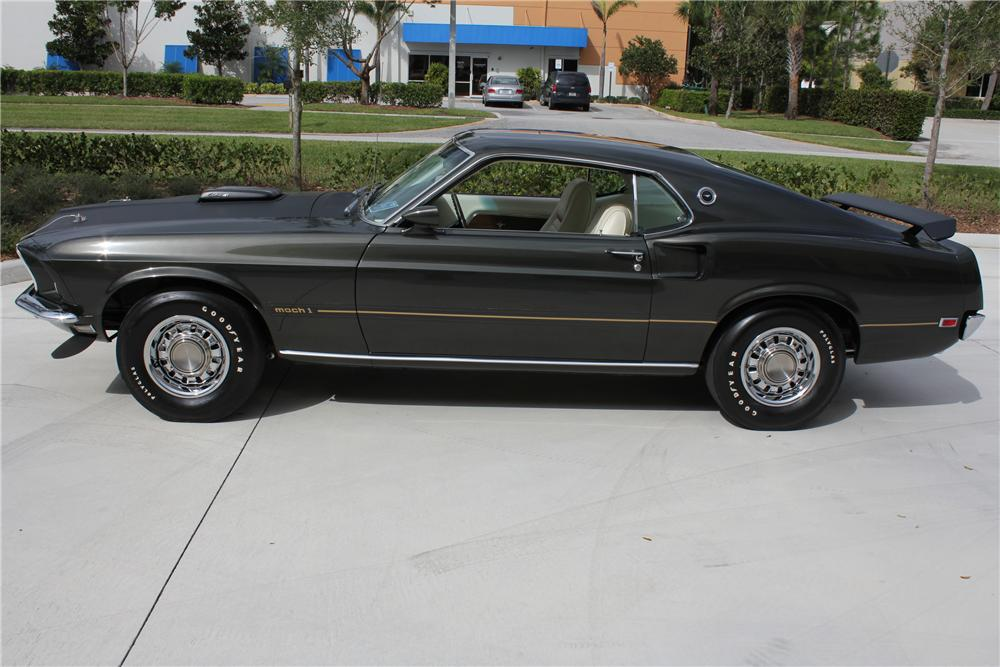 1969 FORD MUSTANG MACH 1 FASTBACK - Side Profile - 102059