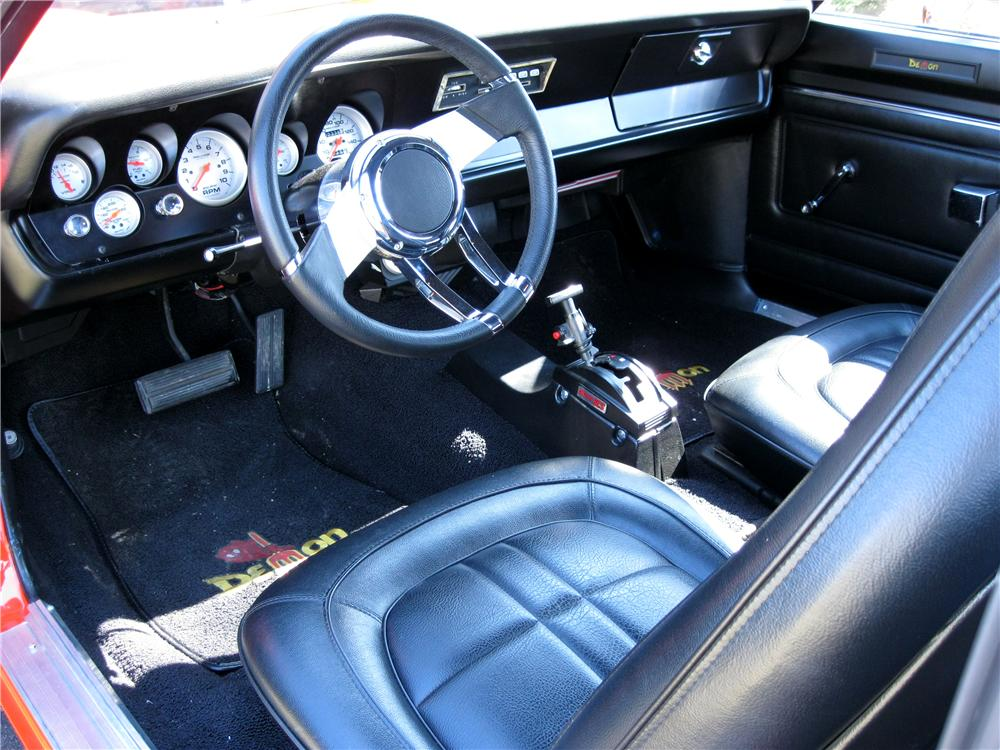 1971 DODGE DEMON CUSTOM 2 DOOR COUPE - Interior - 102062