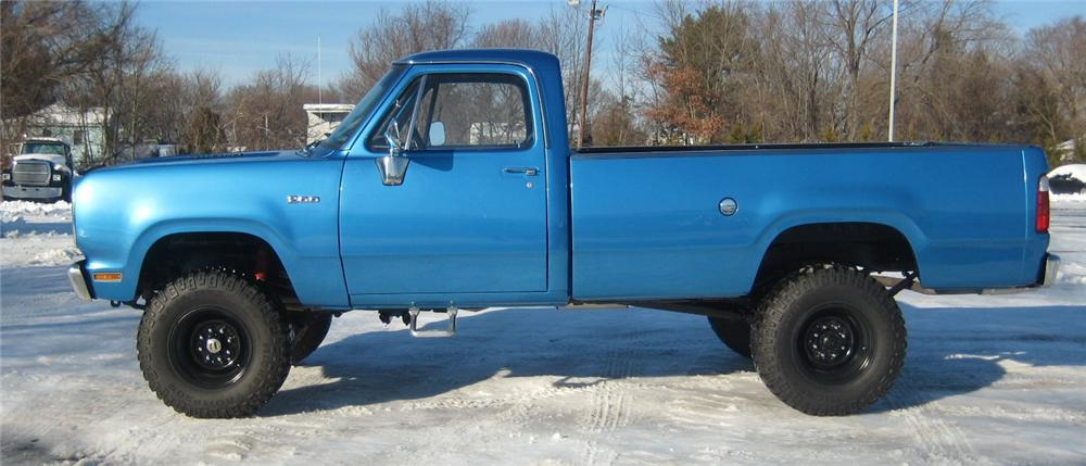 1976 DODGE D-200 PICK UP - Side Profile - 102066