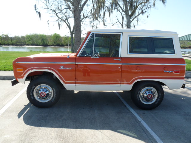 1974 FORD BRONCO REMOVABLE HARDTOP - Side Profile - 102074