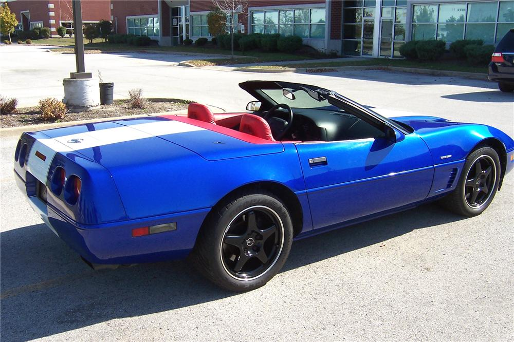1996 CHEVROLET CORVETTE GRAND SPORT CONVERTIBLE - Rear 3/4 - 102082