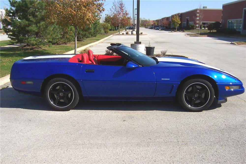 1996 CHEVROLET CORVETTE GRAND SPORT CONVERTIBLE - Side Profile - 102082