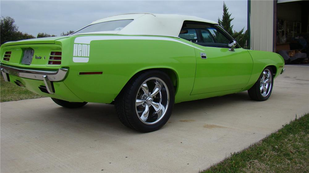 1970 PLYMOUTH CUDA CONVERTIBLE HEMI RE-CREATION - Rear 3/4 - 102094