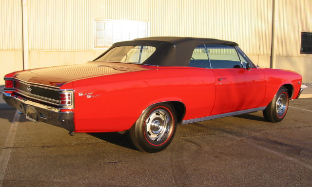 1967 CHEVROLET CHEVELLE SS 396 CONVERTIBLE - Rear 3/4 - 102104
