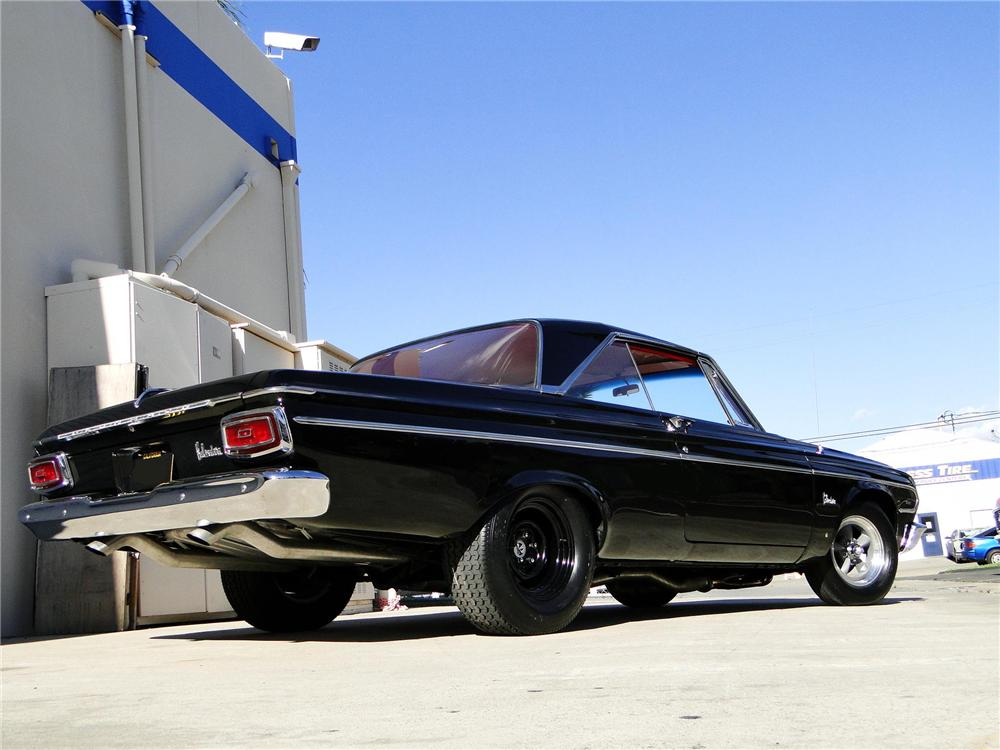 1964 PLYMOUTH BELVEDERE CUSTOM 2 DOOR HARDTOP - Rear 3/4 - 102108