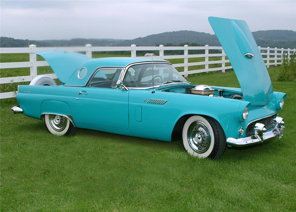 1956 FORD THUNDERBIRD CONVERTIBLE - Front 3/4 - 102109