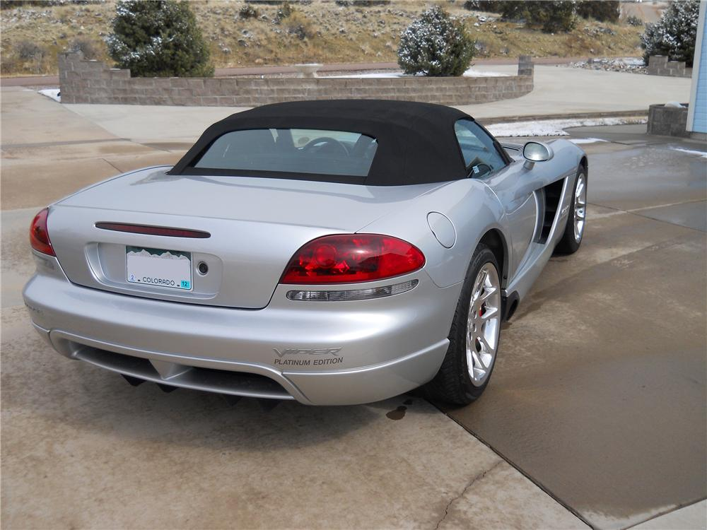 2004 DODGE VIPER CONVERTIBLE - Rear 3/4 - 102123
