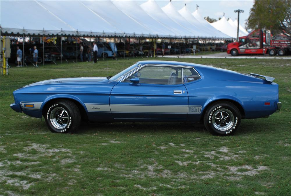 1973 FORD MUSTANG MACH 1 2 DOOR FASTBACK - Side Profile - 102128