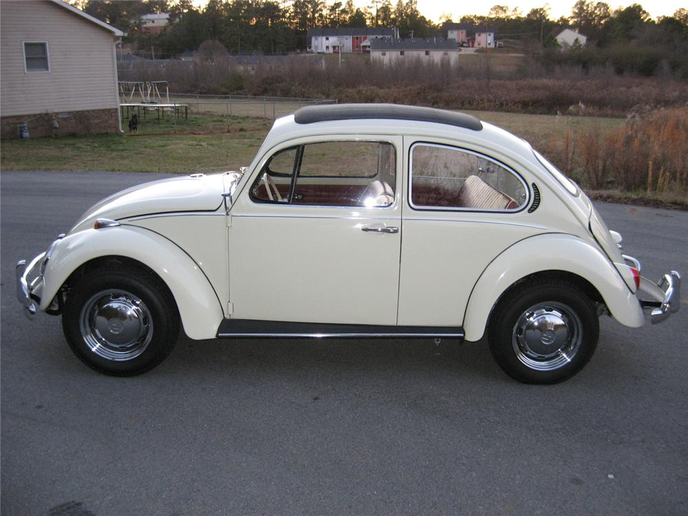 1971 VOLKSWAGEN BEETLE CANVAS SUNROOF COUPE RE-CREATION - Side Profile - 102133