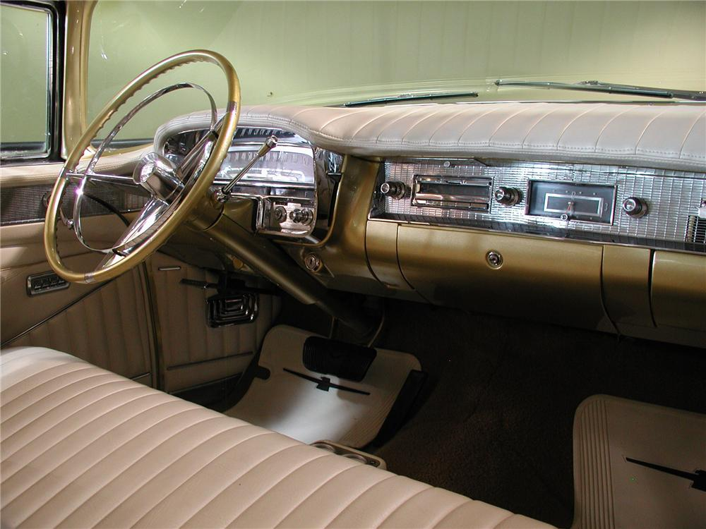 1956 CADILLAC COUPE DE VILLE CUSTOM 2 DOOR HARDTOP - Interior - 102137