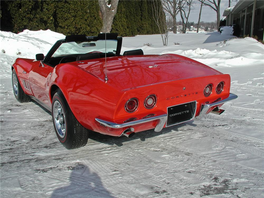 1969 CHEVROLET CORVETTE CONVERTIBLE - Rear 3/4 - 102141
