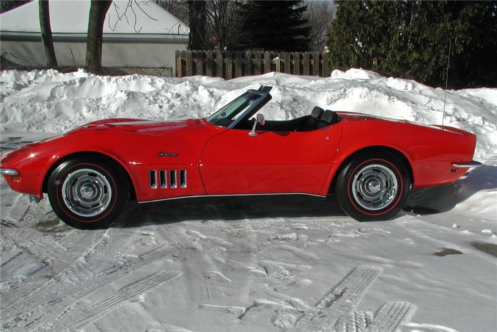 1969 CHEVROLET CORVETTE CONVERTIBLE - Side Profile - 102141