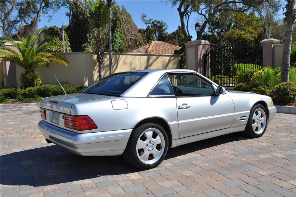 1999 MERCEDES-BENZ 500SL CONVERTIBLE - Rear 3/4 - 102254