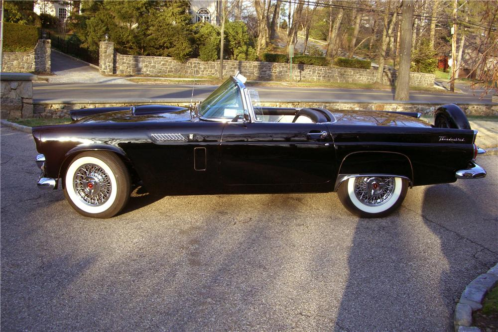 1956 FORD THUNDERBIRD CONVERTIBLE - Side Profile - 102295