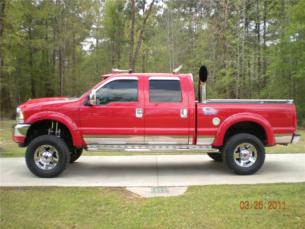 2003 FORD F-250 CUSTOM PICKUP - Side Profile - 102309