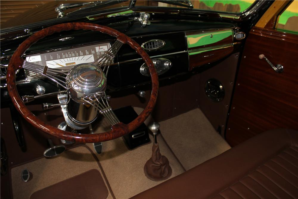 1941 PLYMOUTH CUSTOM WOODY STATION WAGON - Interior - 102312