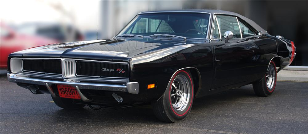 1969 DODGE CHARGER R/T COUPE - Front 3/4 - 102313